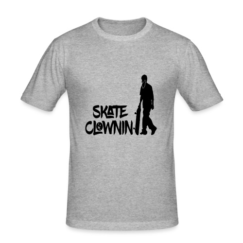 Skateclowninallblackno bg gif - Men's Slim Fit T-Shirt