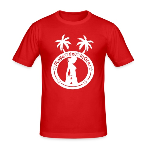 vektor playa del ingles non2006 - Männer Slim Fit T-Shirt