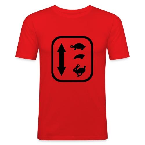 traktor schaltung - Männer Slim Fit T-Shirt
