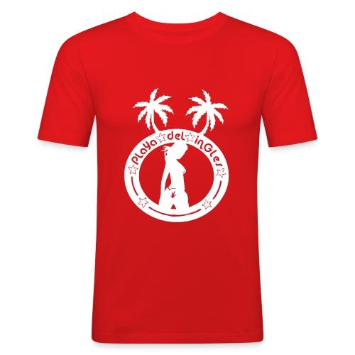vektor playa del ingles non2006 - Männer Slim Fit T-Shirt