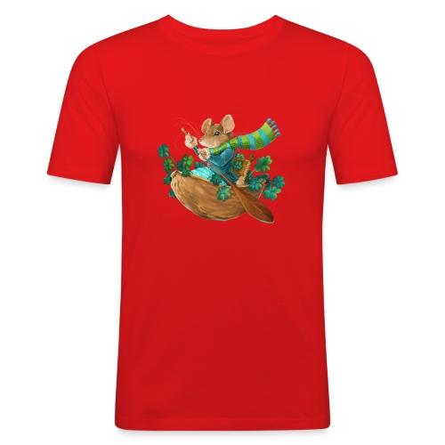 Glücksmaus - Männer Slim Fit T-Shirt