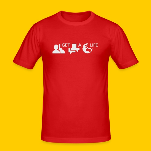 Get a life - Slim Fit T-shirt herr