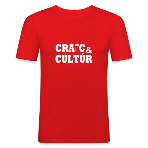 Craic and Cultúr - - Men's Slim Fit T-Shirt