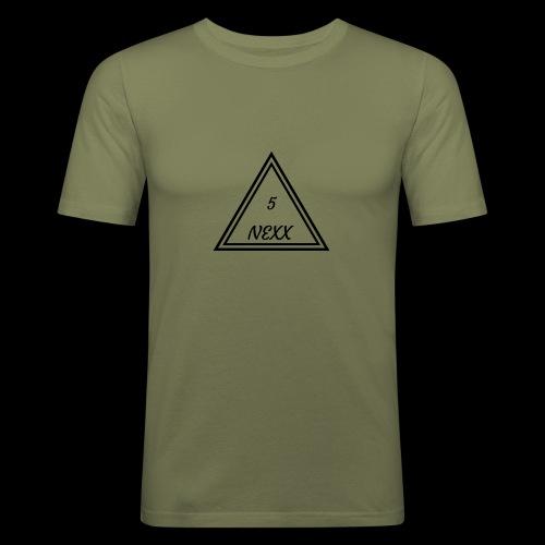 5nexx triangle - Mannen slim fit T-shirt