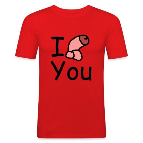 I dong you pillow - Men's Slim Fit T-Shirt