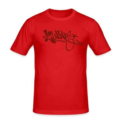 Logo Masters Red Red - Herre Slim Fit T-Shirt