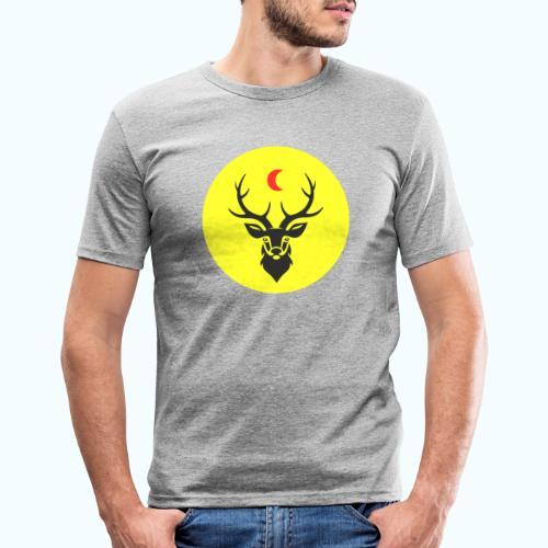 Hipster deer - Men's Slim Fit T-Shirt