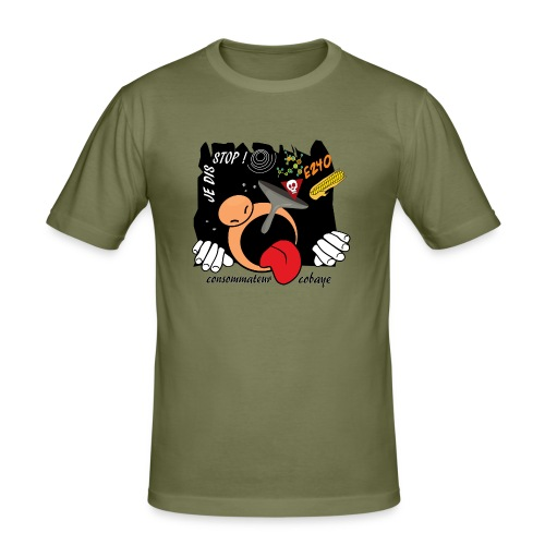 consommateur cobaye - T-shirt près du corps Homme