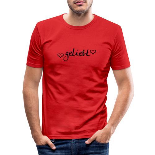 geliebt, schwarz - Männer Slim Fit T-Shirt