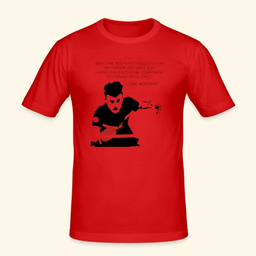 Table Tennis Championship serving - Männer Slim Fit T-Shirt