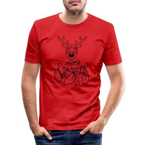 Merry Christmas. without Ears - Männer Slim Fit T-Shirt