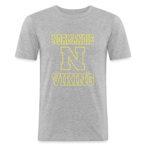 Normandie Viking Def jaune - T-shirt près du corps Homme