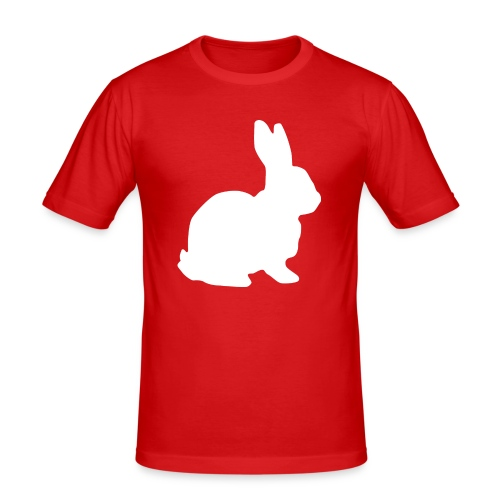 Follow the white rabbit. - Männer Slim Fit T-Shirt