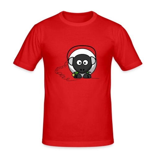 Oveja con cascos - Camiseta ajustada hombre