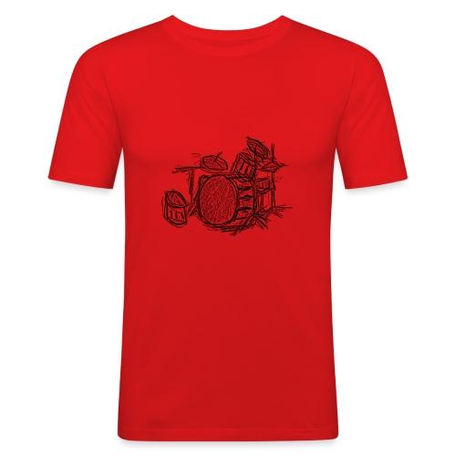 Batería a lapiz - Camiseta ajustada hombre