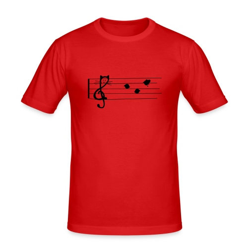 notenkatze - Männer Slim Fit T-Shirt