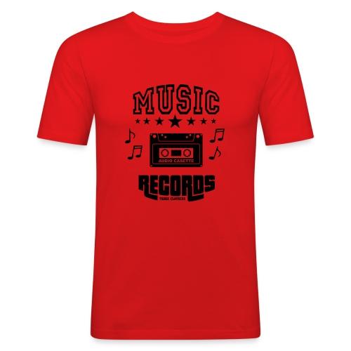 TKHKI MUSIC RECORDS - Miesten tyköistuva t-paita