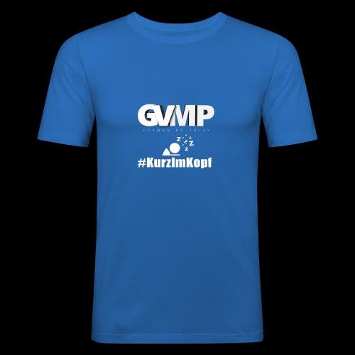 Kurz im Kopf - Männer Slim Fit T-Shirt