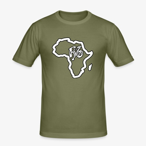 afrika pictogram - Mannen slim fit T-shirt