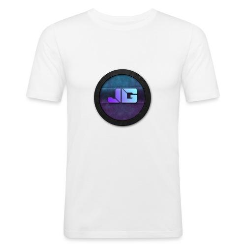 shirt met logo - Mannen slim fit T-shirt