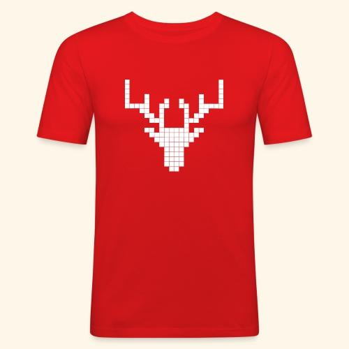 PIXELHIRSCH - only - Männer Slim Fit T-Shirt