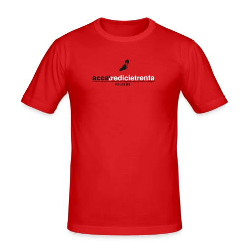 Accatredicietrenta Red line - Maglietta aderente da uomo