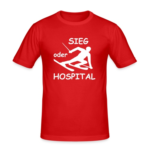 Sieg oder Hospital - Männer Slim Fit T-Shirt