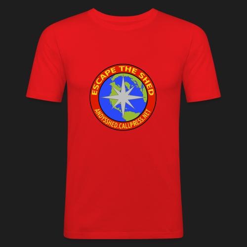 Escape The Shed Badge - Men's Slim Fit T-Shirt