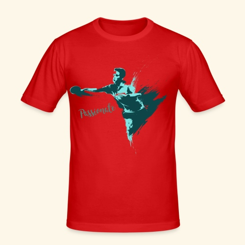 Passionate on winning table tennis champ - Männer Slim Fit T-Shirt