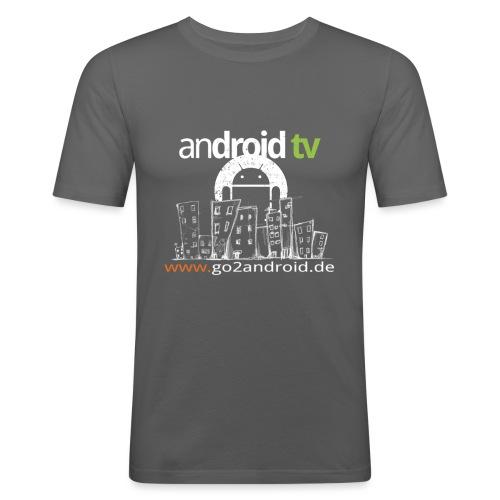 skyline - Männer Slim Fit T-Shirt