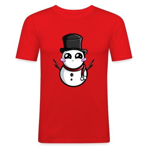 Kawaii Snowman ! - T-shirt près du corps Homme