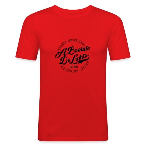 euroDL Retro T-shirt - Black - Mannen slim fit T-shirt