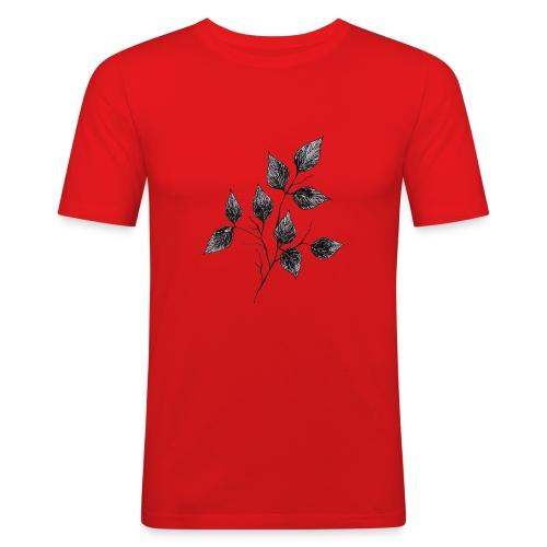 Leaves - Obcisła koszulka męska
