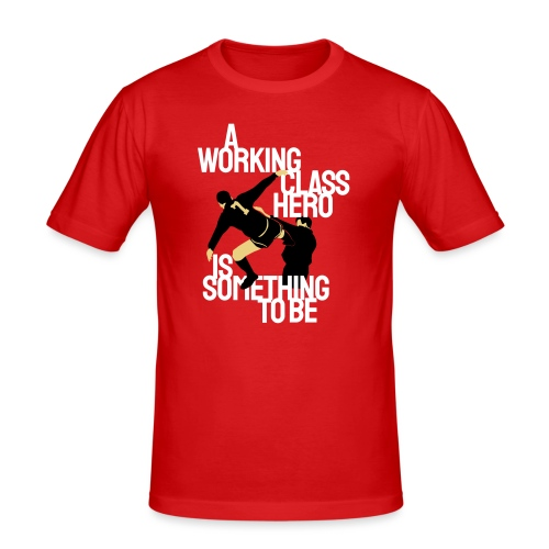 Working Class Hero (Eric Cantona) - Men's Slim Fit T-Shirt