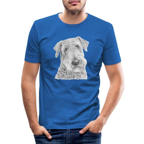 airedale terrier - Herre Slim Fit T-Shirt