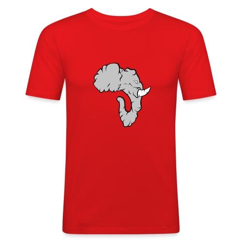 Elefante Perfil - Camiseta ajustada hombre