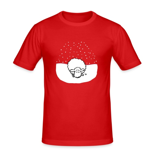 Snowy Sheep - Men's Slim Fit T-Shirt