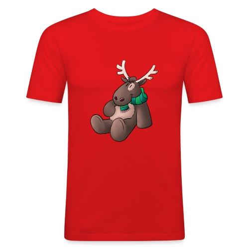 Elch - Kuschelelch sitzend - Männer Slim Fit T-Shirt