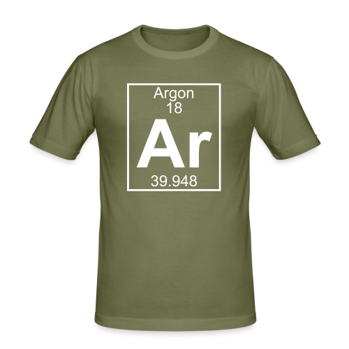 Argon (Ar) (element 18) - Men's Slim Fit T-Shirt