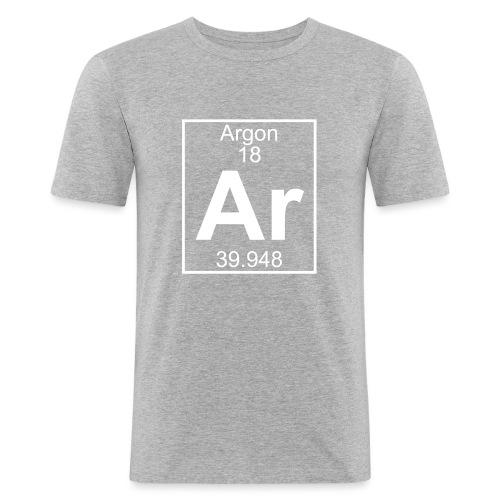 Argon (Ar) (element 18) - Men's Slim Fit T-Shirt