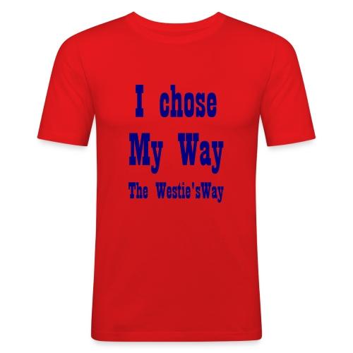 I chose My Way Navy - Men's Slim Fit T-Shirt