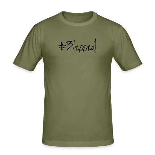 #Blessed - Men's Slim Fit T-Shirt