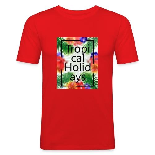 Tropical Holidays - Obcisła koszulka męska