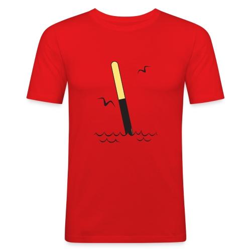 FP25 ETELÄVIITTA Merimerkit funprint24 net - Miesten tyköistuva t-paita
