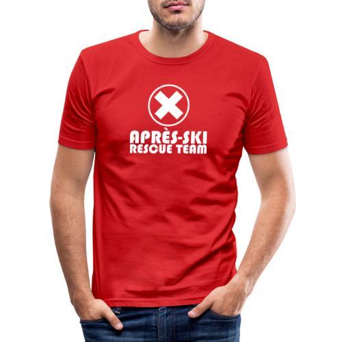 APRÈS SKI RESCUE TEAM 1 - Mannen slim fit T-shirt