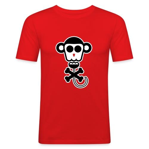Funny Faces Monkey - Mannen slim fit T-shirt