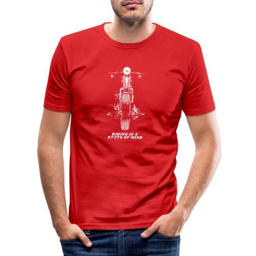 riding is a state of mind - Chopper Cruiser Retro - Männer Slim Fit T-Shirt