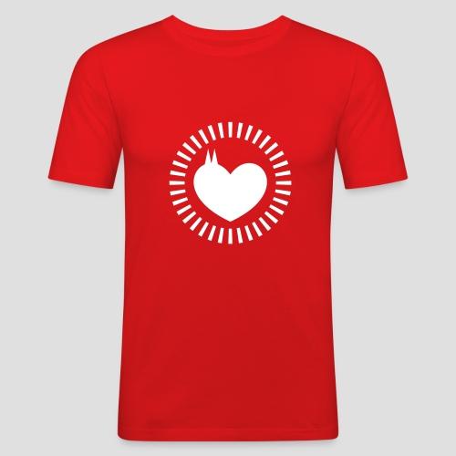 Dom Herz - Männer Slim Fit T-Shirt