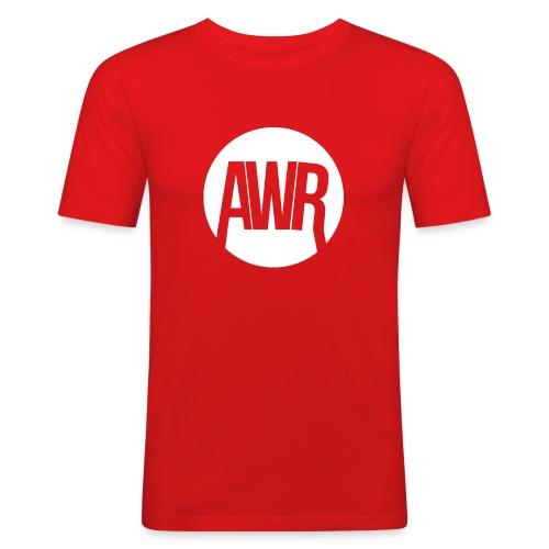 ArmooWasRight Logo - Mannen slim fit T-shirt