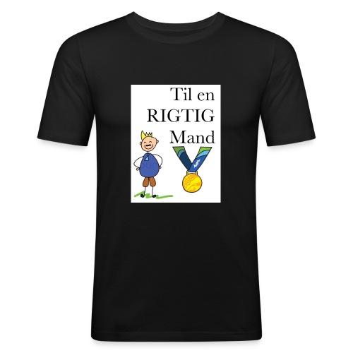 En rigtig mand - Herre Slim Fit T-Shirt